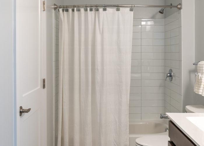 Bathroom, looking towards shower