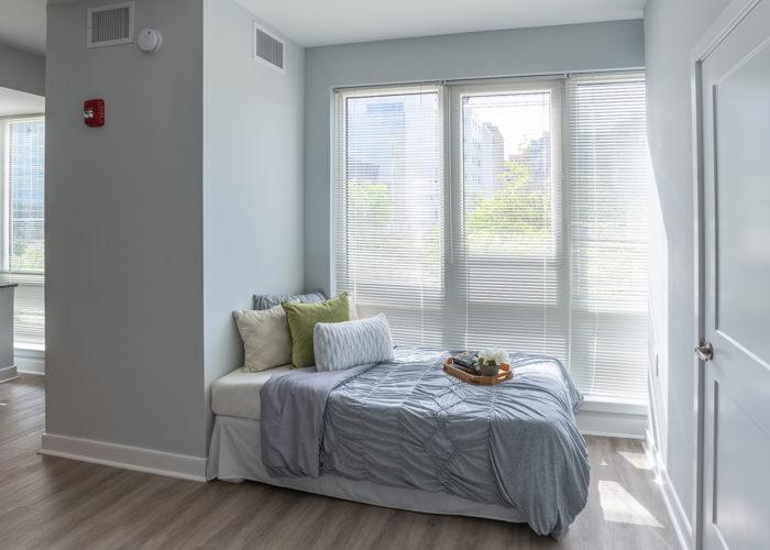 View of sleeping area in Studio apartment